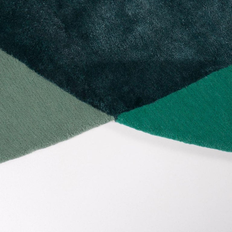 Modern Paradisoterrestre All Around Carpet in Green by Pierre Gonalons For Sale