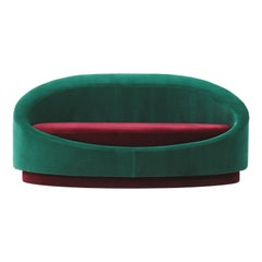 Paradisoterrestre All Around Sofa 160 in Green Velvet by Pierre Gonalons