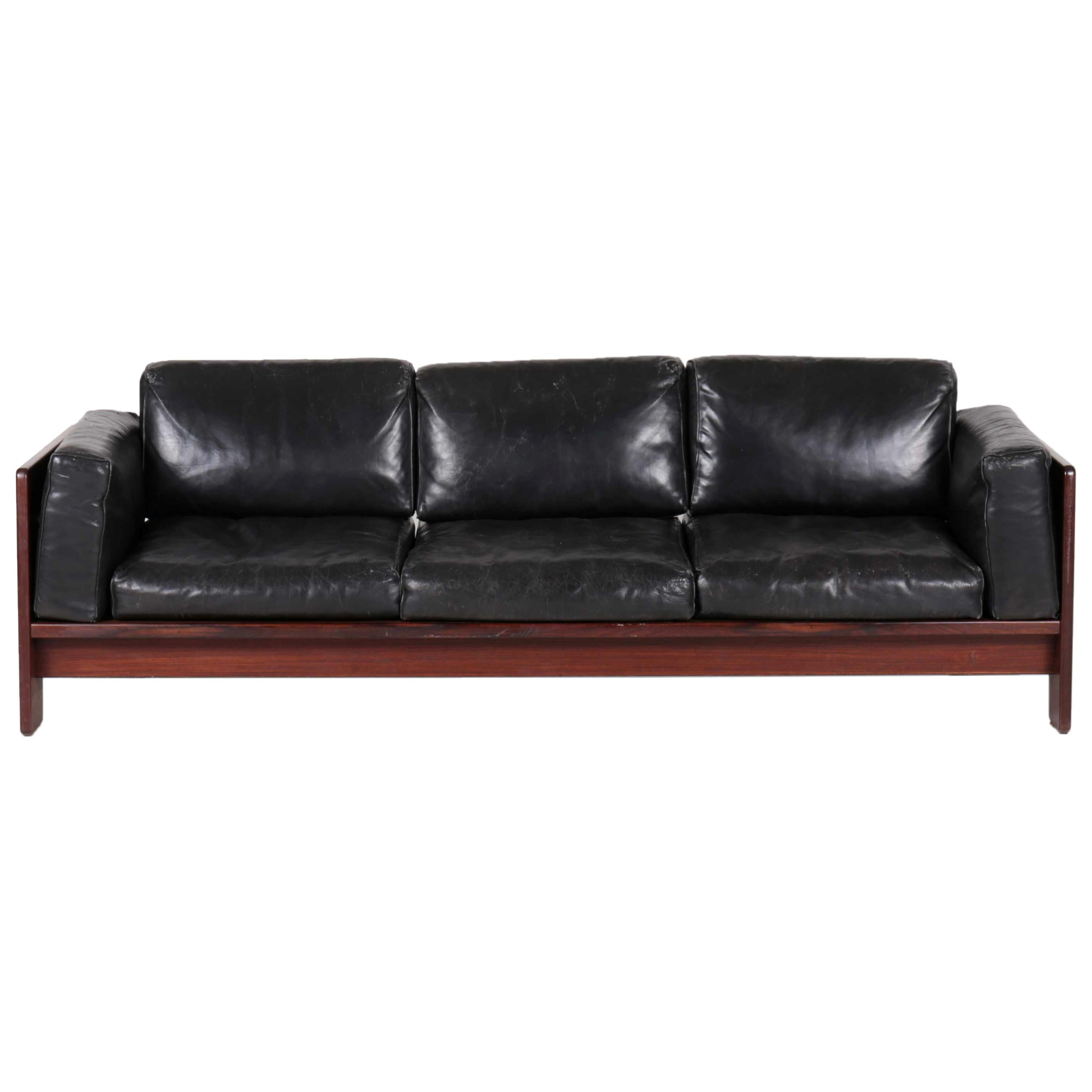 Bastiano 3 Seater Sofa in Wood by Tobia Scarpa