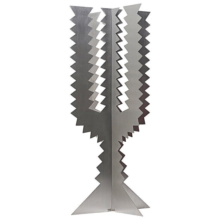 Paradisoterrestre Fiori Futuristi Cactus 180 in Mirror Steel by Giacomo Balla For Sale