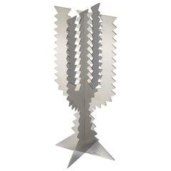 Paradisoterrestre Fiori Futuristi Cactus 45 in Mirror Steel by Giacomo Balla