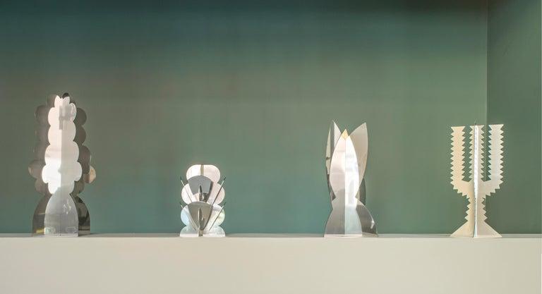 Modern Paradisoterrestre Fiori Futuristi Nuvolo 58 in Mirror Steel by Giacomo Balla For Sale