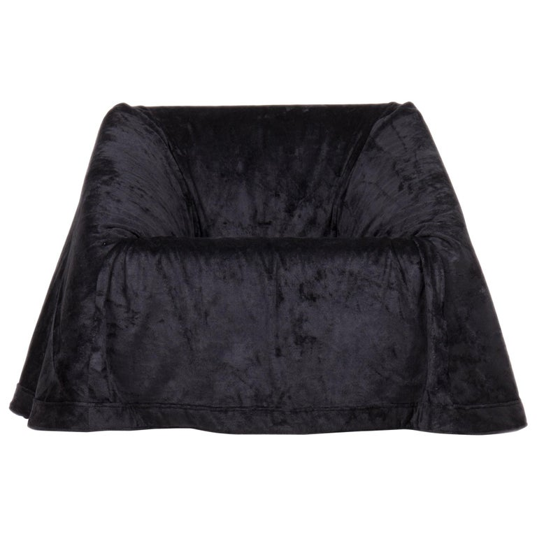 Paradisoterrestre Mantilla Armchair in Black by Kazuhide Takahama For Sale