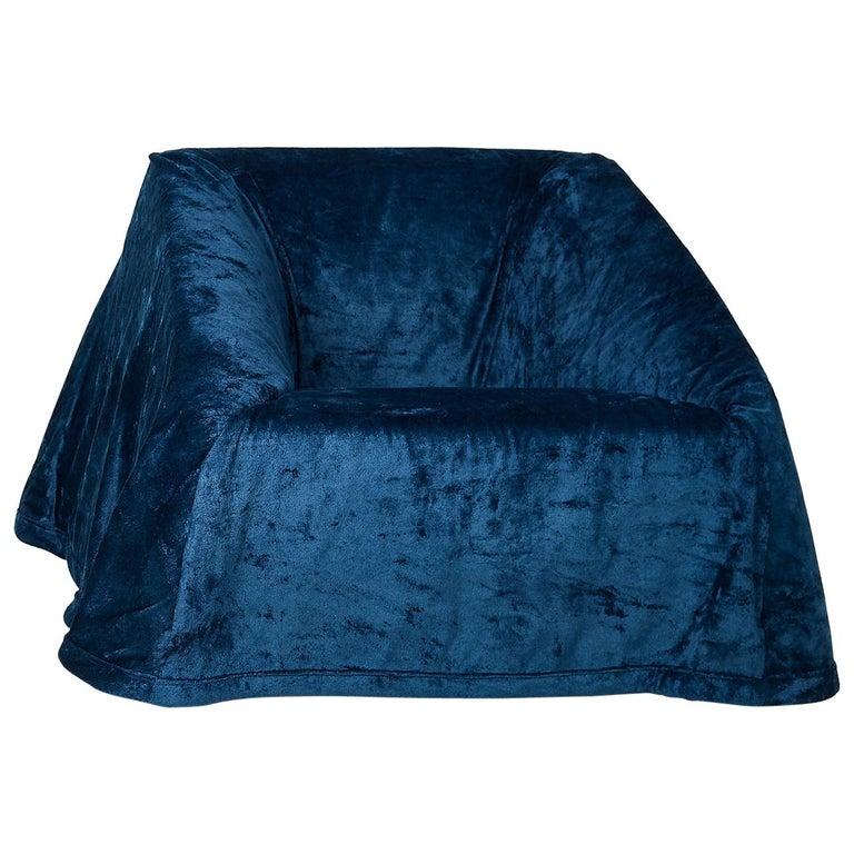Paradisoterrestre Mantilla Armchair in Blue by Kazuhide Takahama For Sale