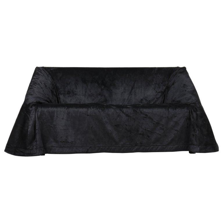 Paradisoterrestre Mantilla Sofa 160 in Black Velvet by Kazuhide Takahama For Sale