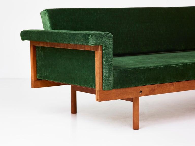 Modern Paradisoterrestre Naeko Sofa in Green with Wood Frame by Kazuhide Takahama For Sale
