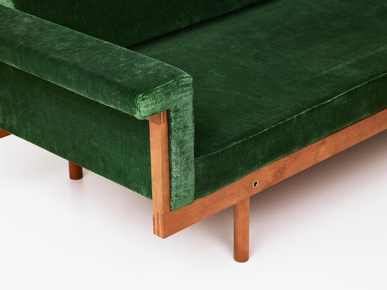 Italian Paradisoterrestre Naeko Sofa in Green with Wood Frame by Kazuhide Takahama For Sale