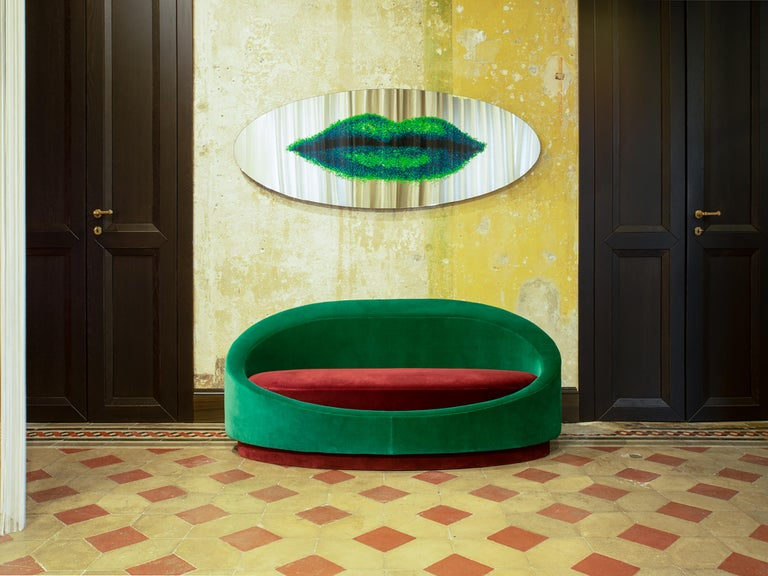 Modern Paradisoterrestre Specchi Labbra Mirror by Dino Gavina For Sale