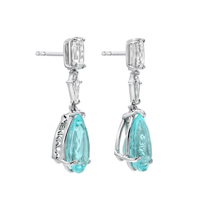 Contemporary Paraiba Tourmaline Earrings 6.25 Carats GIA Certified For Sale
