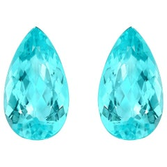 Paraiba Tourmaline Earrings Pair 7.10 Carat