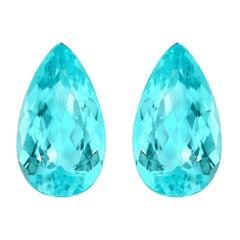 Paraiba Tourmaline Earrings Gemstone Pair 7.10 Carat Loose Unset Gems