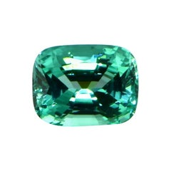 Unheated Paraiba Tourmaline Cushion Cut 17.14 Carats GIA Certified