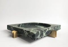 Parallel Bowl in Verde Marble