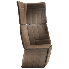 Parallel High Armchair in Leather.