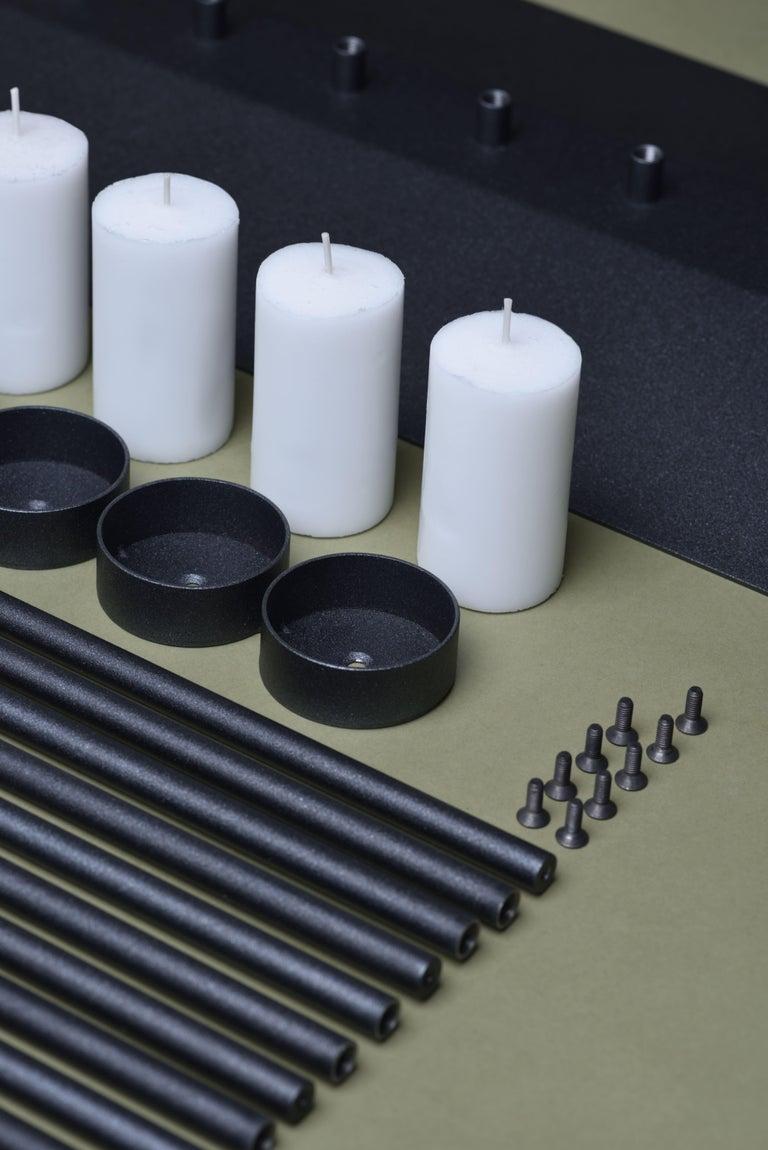 PARALLEL candleholder 130сm, minimalistic Hanukkah menorah by Ivan Voitovych For Sale 3