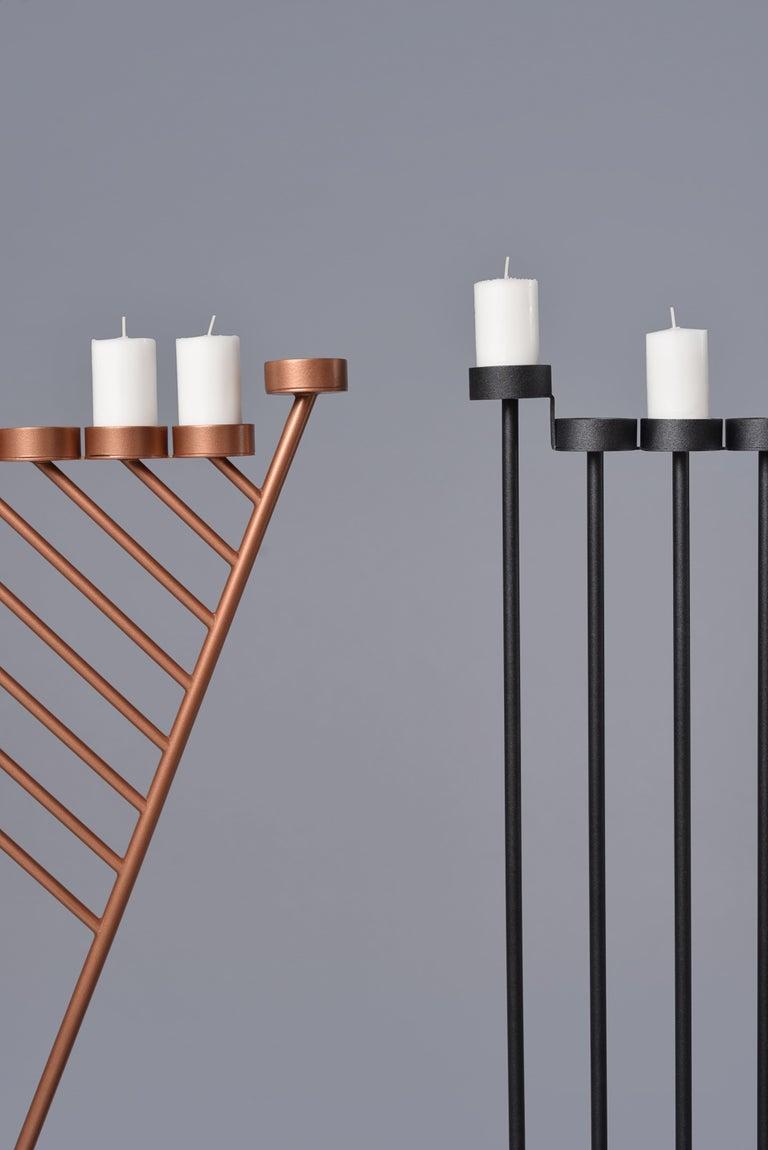 PARALLEL candleholder 130сm, minimalistic Hanukkah menorah by Ivan Voitovych For Sale 4
