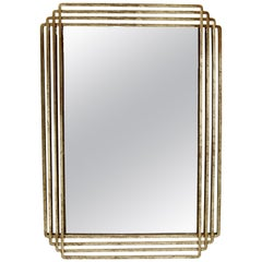 Parallel Mirror in Gold Leaf by CuratedKravet