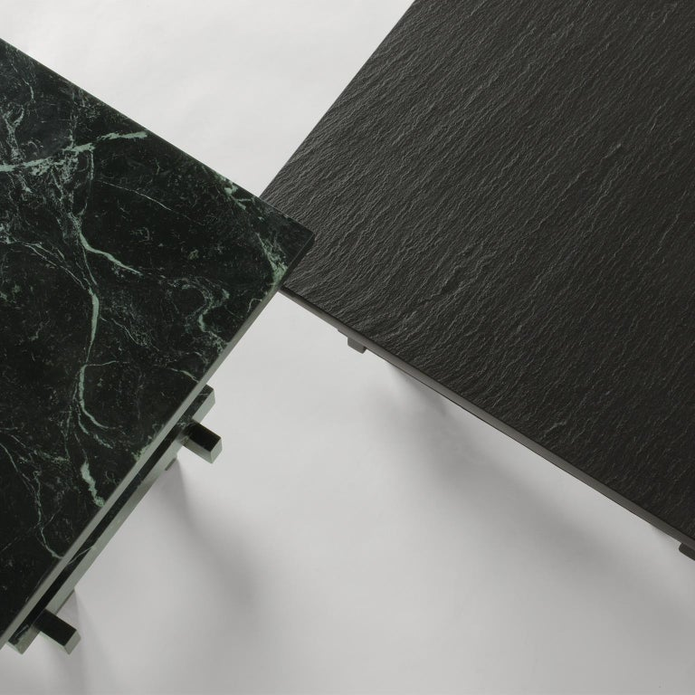 Italian Paranoid N02, 21st Century Coffee Table in Grey Handcutted Slate For Sale