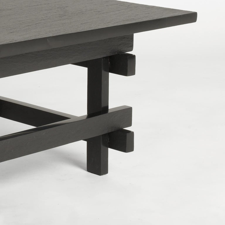 Paranoid N02, 21st Century Coffee Table in Grey Handcutted Slate In New Condition For Sale In Milano, IT
