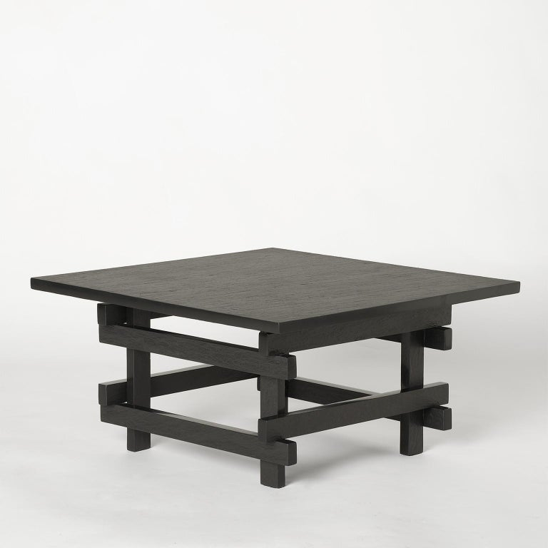 Contemporary Paranoid N02, 21st Century Coffee Table in Grey Handcutted Slate For Sale
