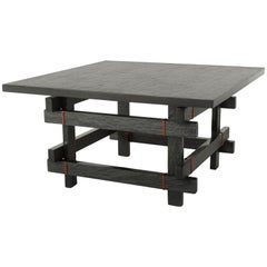 Paranoid Medium, 21st Century Coffee Table in Grey Handcutted Slate