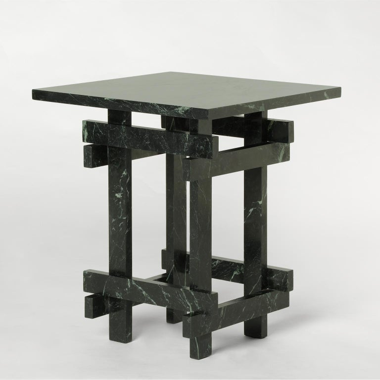 Other Paranoid N01, 21st Century Coffee Table in Dark Green Marble For Sale
