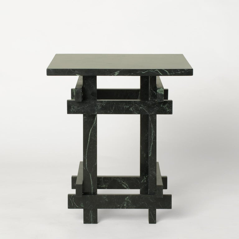 Paranoid N01, 21st Century Coffee Table in Dark Green Marble In New Condition For Sale In Milano, IT