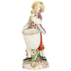 Parcel-Gilt 18th Century Chelsea Porcelain Figure