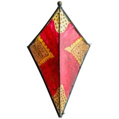 Parchment African Red Art Wall Sconce