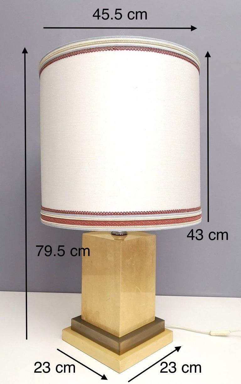 Parchment and Brass Table Lamp by Aldo Tura, Italy 1960s-1970s For Sale 6