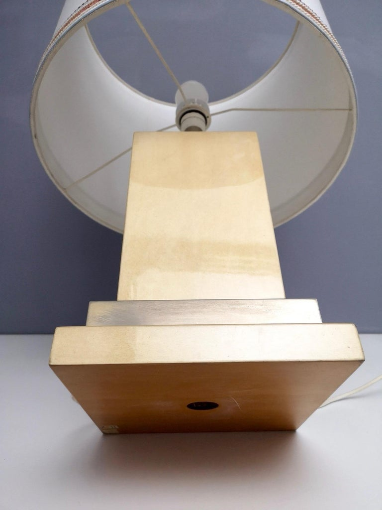 Parchment and Brass Table Lamp by Aldo Tura, Italy 1960s-1970s For Sale 3
