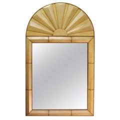 Parchment Art Deco Style Mirror