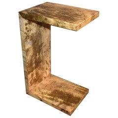 """Parchment """"C"""" Design Side Table"""
