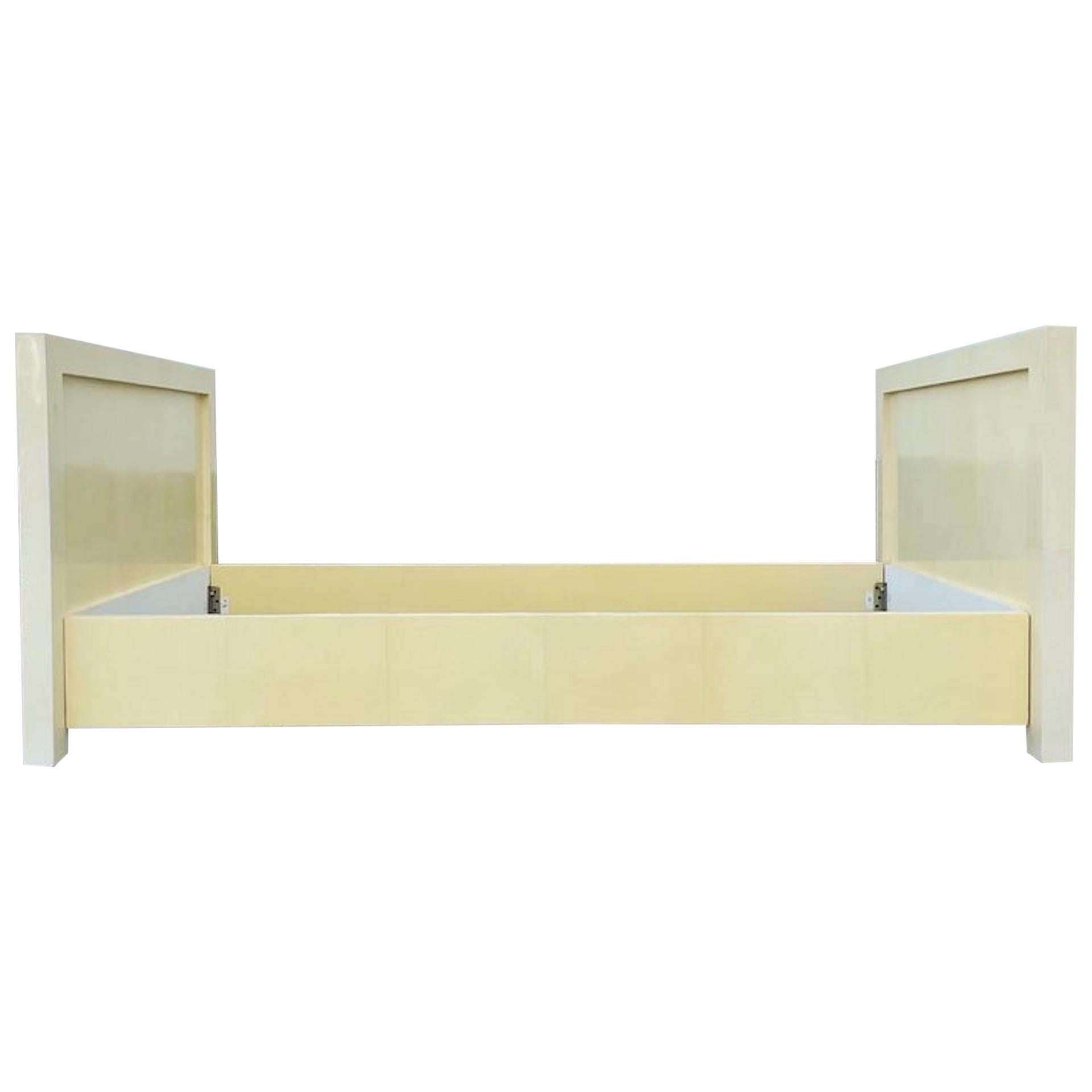 Parchment Daybed 'Frame' in the Manner of Jean-Michel Frank