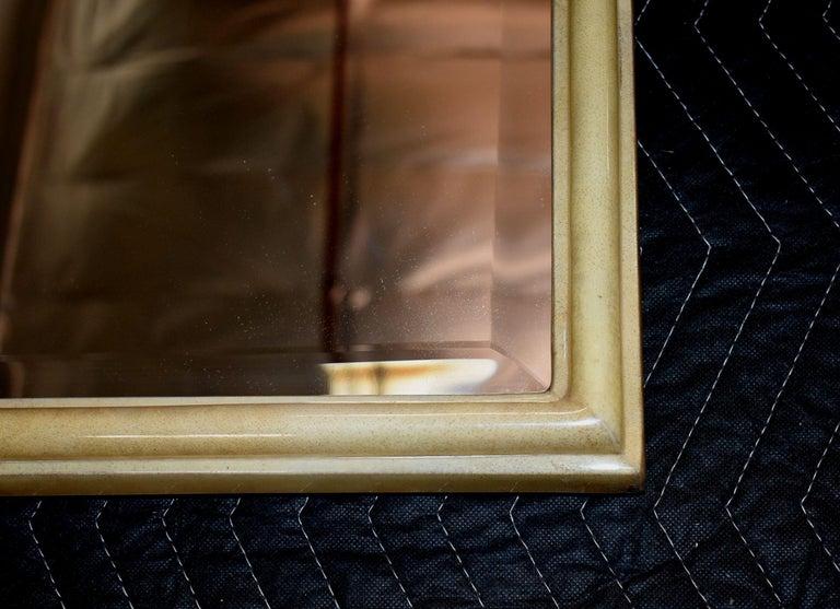 Parchment Freeform Mirror For Sale 4