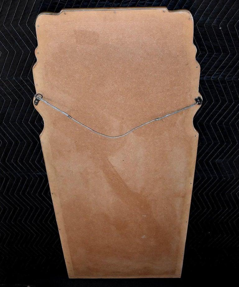 Parchment Freeform Mirror For Sale 5