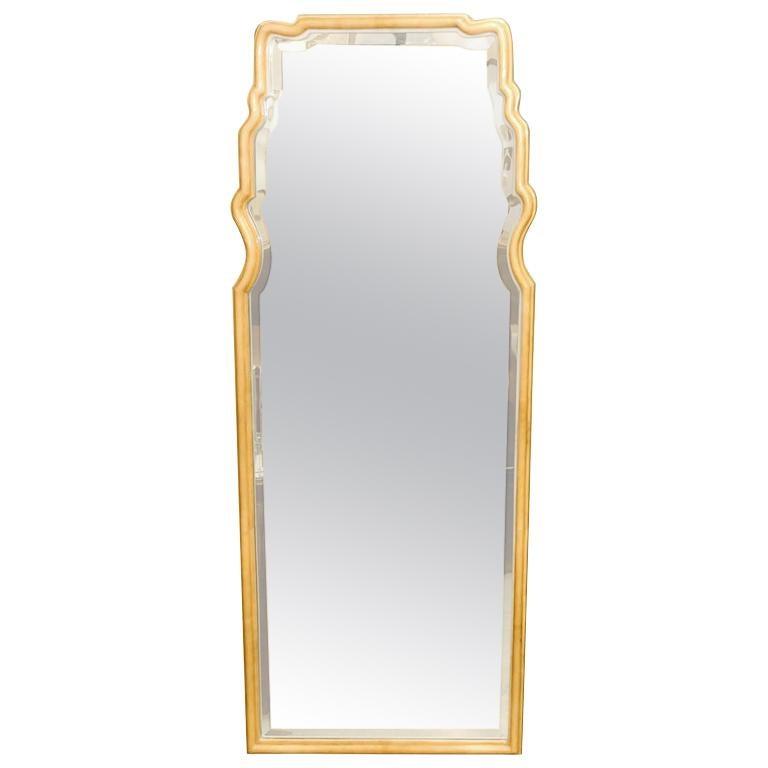 Parchment Freeform Mirror For Sale