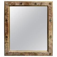 """Parchment """"Gucci"""" Style Design Mirror"""