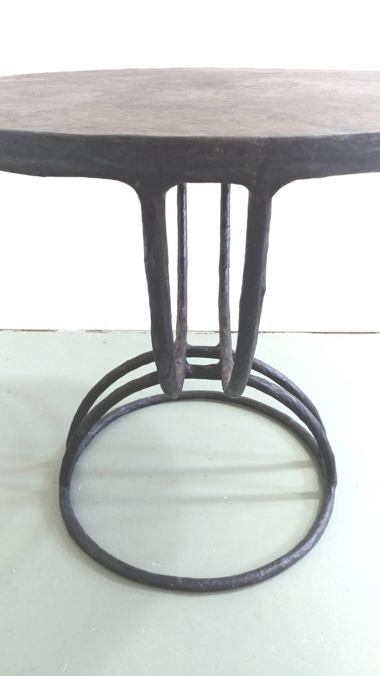 Mid-Century Modern Parchment Occasional Table attributed to Diego Giacometti Offered by LaPorte For Sale