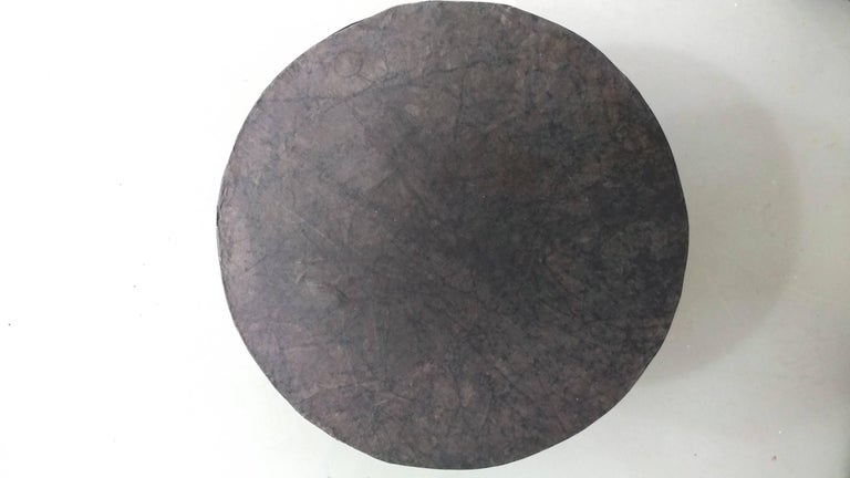 Unknown Parchment Occasional Table attributed to Diego Giacometti Offered by LaPorte For Sale