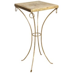 Parchment Pedestal Table