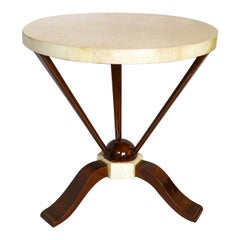 Parchment Round Side Table