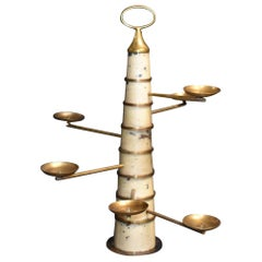 Parchment Sculptural Candleholder