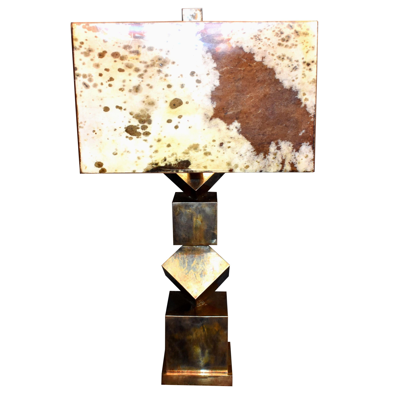 """Parchment """"Sculptural"""" Table Lamp"""