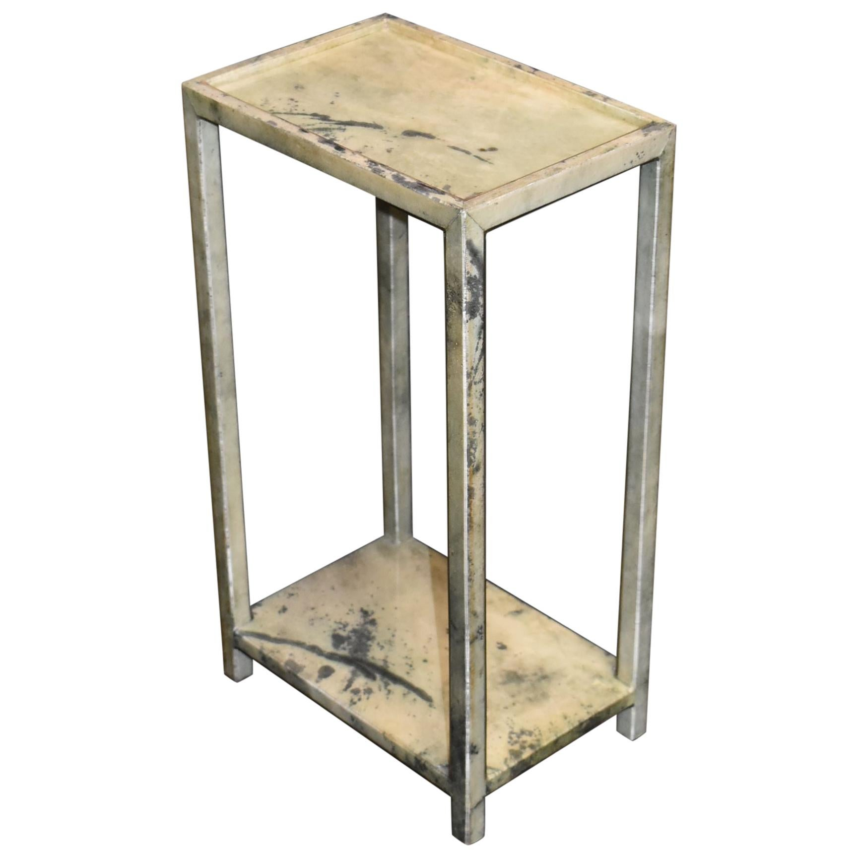 Parchment Two-Tier Side Table
