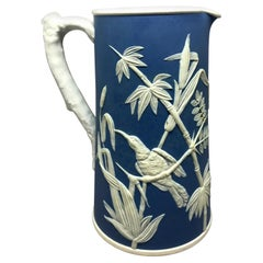 Parian Jasperware Hummingbird Pitcher