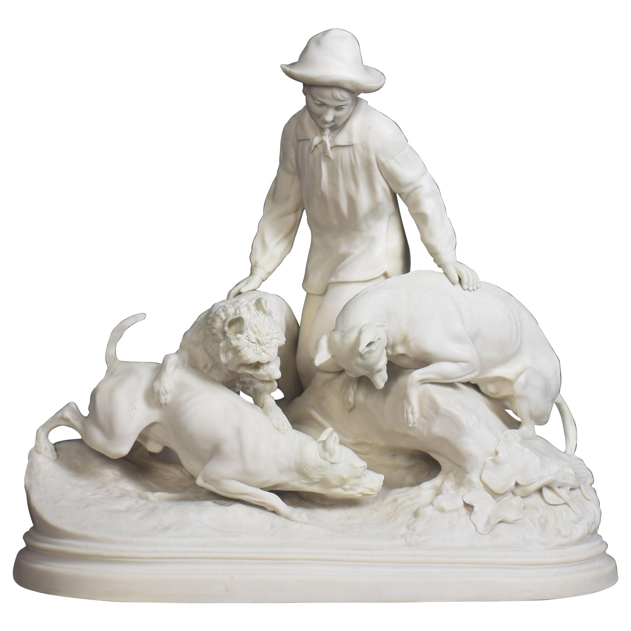 Parian Ware Figure Group