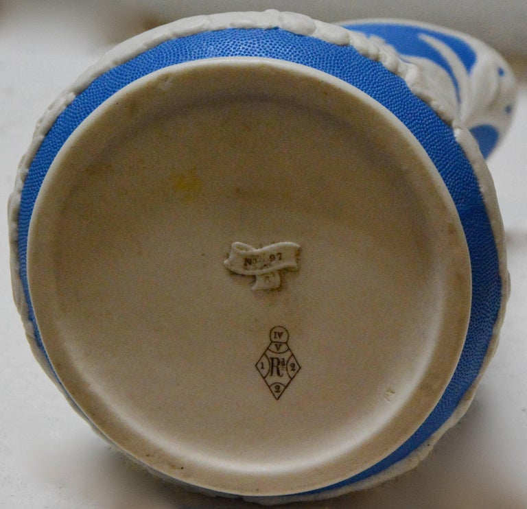 Parian Ware Pitcher, Blue and White, circa 1850s For Sale 1