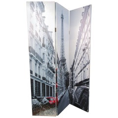 Paris and London-Themed Room Divider