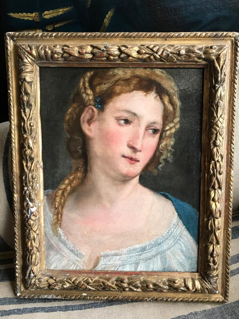 16th Century Italian Renaissance Extremely Rare Oil Painting Portrait of a Lady 1